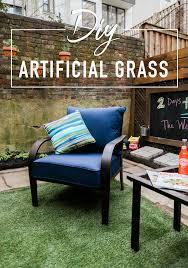 Patio Artificial Grass Diy Artificial Grass The Weekender Urban Patio Makeover East