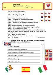 english teaching worksheets nationalities