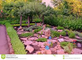 plants for rock gardens rock garden stock photo image of artificial live interesting