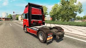 volvo 2011 truck piel rojo negro at volvo trucks for euro truck simulator 2