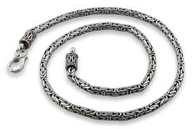 silver byzantine chain necklace images Sterling silver 18 quot round byzantine chain necklace 3 1mm gif