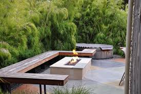 Modern Firepit Concrete Pit Patio Modern With Garden Seating Garden Seating