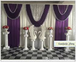 Purple Drapes Or Curtains 2018 Ivory Backdrops With Purple Drapes Silver Sequin