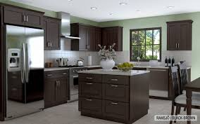 kitchen interior gray wall color plus light brown wooden kitchen