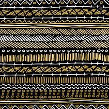 fancy golden boho seamless pattern with retro tribal elements