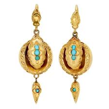 drop earrings gold turquoise gold drop earrings for sale at 1stdibs
