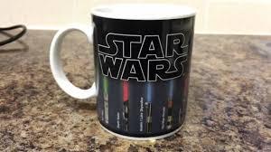 Heated Coffee Mug Star Wars Lightsaber Colour Changing Mug Youtube