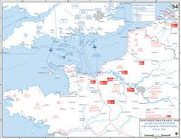 France On A Map by Map Of Northwestern France June 6 1944