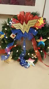wonder woman christmas wreath wonder woman awesomeness