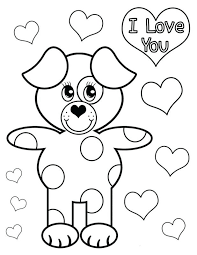 coloring pages puppy pictures color childrens puppy coloring
