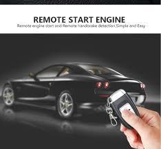 8x car security system alarm start key passive keyless entry push