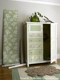 wallpaper craft pinterest wallpaper crafts country style wallpaper dresser creative uses