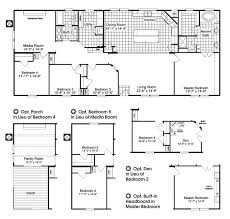 4 Bedroom 2 Bath Mobile Homes The Homerun Hrt472a6 Home Floor Plan The Homerun Manufactured