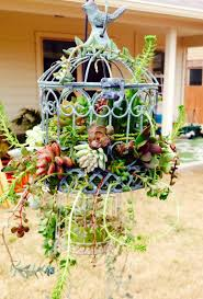 How To Decorate A Birdcage Home Decor 20 Best Decoration Ideas With Birdcage Planters In 2017