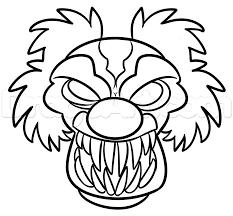 drawing a halloween clown step by step halloween seasonal free