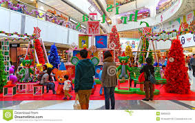 Christmas Decorations For Shopping Centres by Christmas Decoration At Shopping Mall Editorial Photography