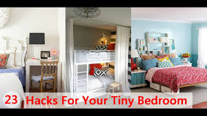 23 hacks for your tiny bedroom youtube