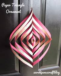 s craft paper triangle spiral ornament