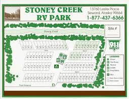 Seward Alaska Map by Rv Park In Seward Alaska At Stoney Creek R V Park