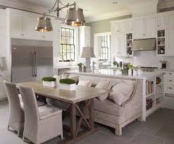 kitchen island with bench dining trestle table the kitchen island with bench seating