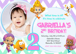 Create Birthday Invitation Cards Bubble Guppies Birthday Invitations Kawaiitheo Com