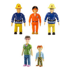 amazon com fireman sam action figures 5 figure pack toys u0026 games