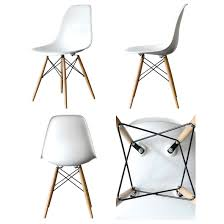 Eames Style Chair by Set Of 4 Eames Style Dsw Molded White Plastic Dining Shell Chair