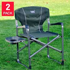 Folding Directors Chair With Side Table Timber Ridge Director S Chair 2 Pack With Side Table