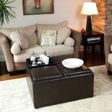 coffee table leather top ottomans tray ottoman white storage pouf aqua 2 leather round