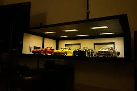 display case led lighting systems 1 18 die cast model car garage display case with led lights system