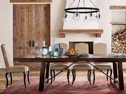 benchwright new traditional dining room pottery barn