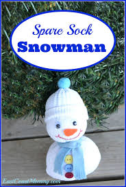 east coast mommy spare sock snowman