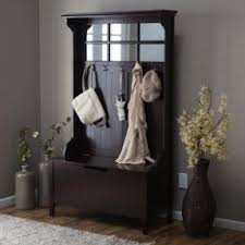 Mini Hall Tree With Storage Bench Hall Tree With Storage Bench And Mirror Foter