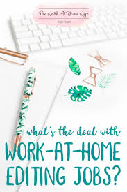 how can i get an editing job from home frugal living