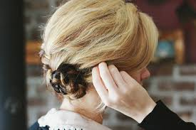 Hochsteckfrisurenen Mittellange Haare by Eine Hochsteckfrisur Aus Flechtzöpfen Selber Machen