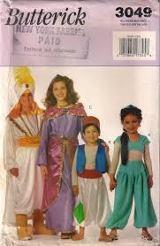 Halloween Costumes Sewing Patterns Butterick 3049 Prince Ali Costume Aladdin Jasmine