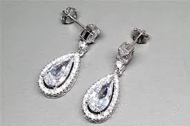 diamond earrings nz luxuria proteuse 925 sterling silver bridal earrings bridal