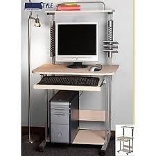 bureau pour ordi meuble bureau pour ordinateur pc a roulettes avec surmeuble