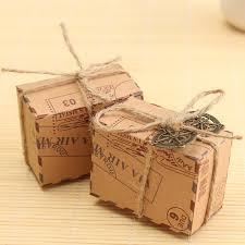 50pcs kraft paper box airplane mail candy box rustic wedding