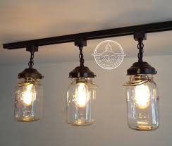 rustic track lighting fixtures flush mount ceiling light mason jar track lighting fixture