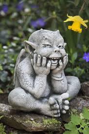 robin gargoyle garden statue he s so darn i smiled