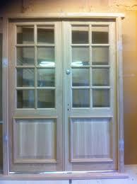 Main Door Simple Design Common Design Wood Frames Door With Frosted Glass Sidelite Door