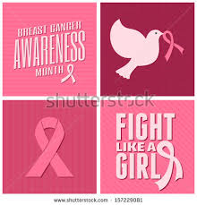 cancer cards set breast cancer awareness cards stock vector 154316441
