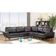 modern tufted leather sofa furniture of america garcia mid century modern tufted leather gel