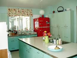 Painted Metal Kitchen Cabinets Retro Kitchen Cabinets