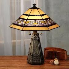 tavasci mission stained glass table lamp betterimprovement com
