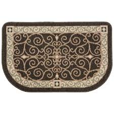 flame resistant hearth rug charcoal scroll hearth accessories