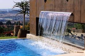 decorative waterfall home design