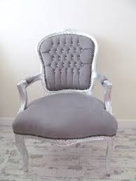 Shabby Chic Salon Furniture by Grey Velvet Crystal Diamante French Shabby Chic Silver Louis
