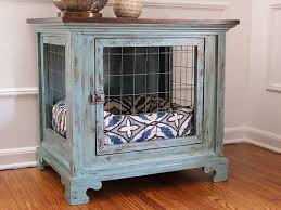 Diy End Table Dog Crate by Dog Kennel Nightstands Charlotte 1 Pets Pinterest